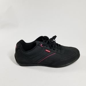 Levi's Black and Pink Comfort Sneaker Shoes